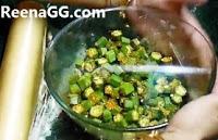 Bhindi in Microwave step 5