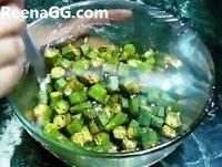 Bhindi in Microwave step 6