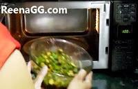 Bhindi in Microwave step 7
