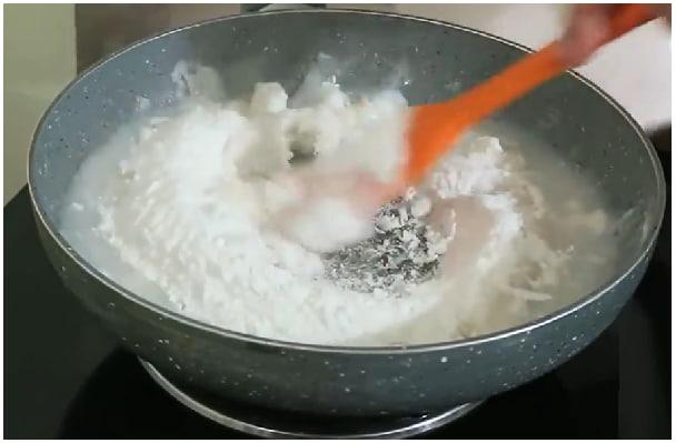 plain rice roti step 1