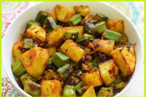 bhindi aloo fry