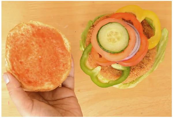 veg burger step 6