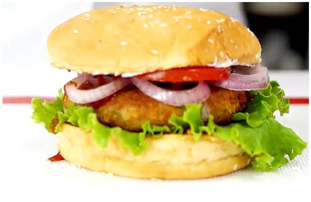 veg burger step 7
