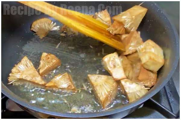 Dry Kathal fry Recipe 2