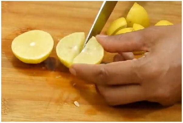 sweet lemon pickle step 1