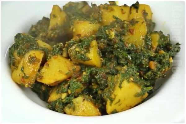 spinach potato gravy step 6
