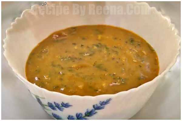 palak with besan curry 7
