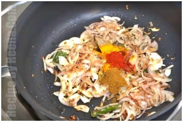 cabbage fry recipe step 3