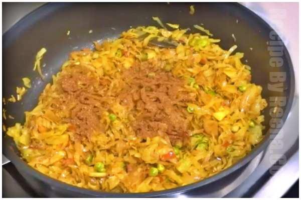 cabbage fry recipe step 6