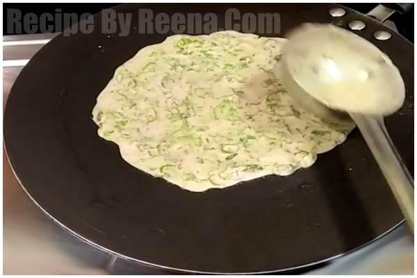 Singhara Aata Cheela step 3