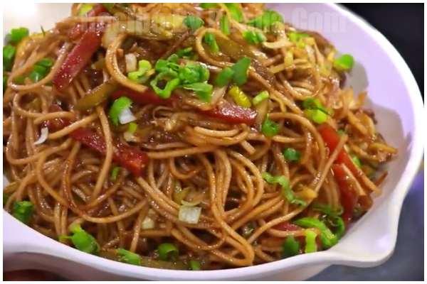 veg chow mein step 7
